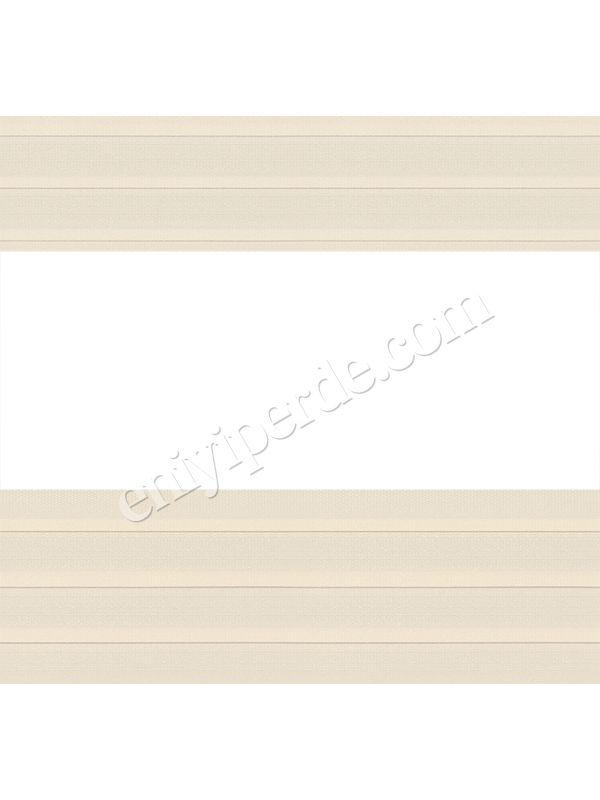 Hera Plise Krem Zebra Perde - 7819 (03)