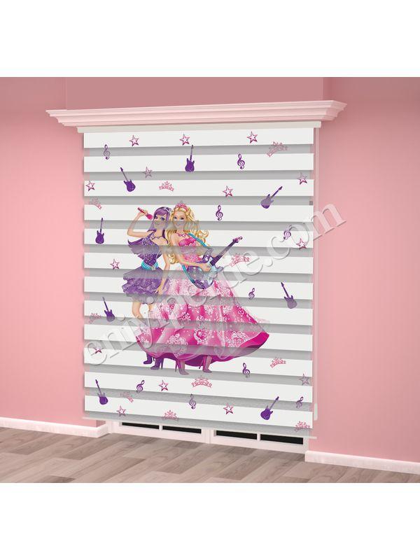 Dijital Baskılı Kız Çocuk Odası Zebra Perde - PM 001