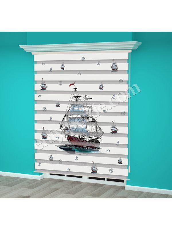 Dijital Baskılı Zebra Perde (Gemi) - PM 007