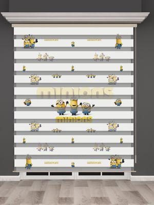 Minyonlar Baskılı Çocuk Odası Zebra Perde - PM 022-1