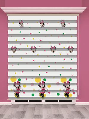 Mini Mouse Baskılı Çocuk Odası Zebra Perde - PM 023-1