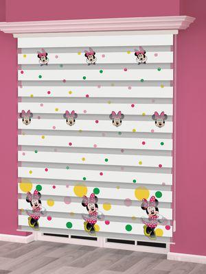 Mini Mouse Baskılı Çocuk Odası Zebra Perde - PM 023