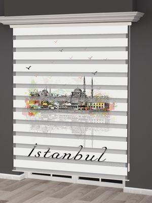 İstanbul Desenli Zebra Perde - PM 027