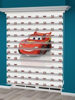 Arabalar Baskılı Erkek Çocuk Odası Zebra Perde - PM 032