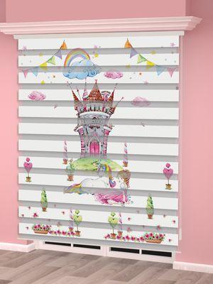 Dijital Baskılı Kız Çocuk Odası Zebra Perde - PM 033