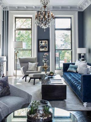 mavi ev dekorasyonu