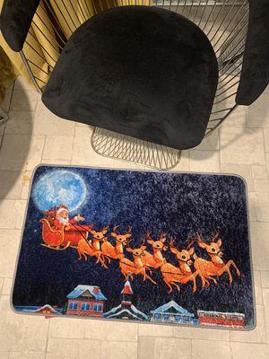 Santa Claus Yılbaşı Temalı Lateks Kaymaz Taban Kapı Önü Paspası (Ebat 60x90)